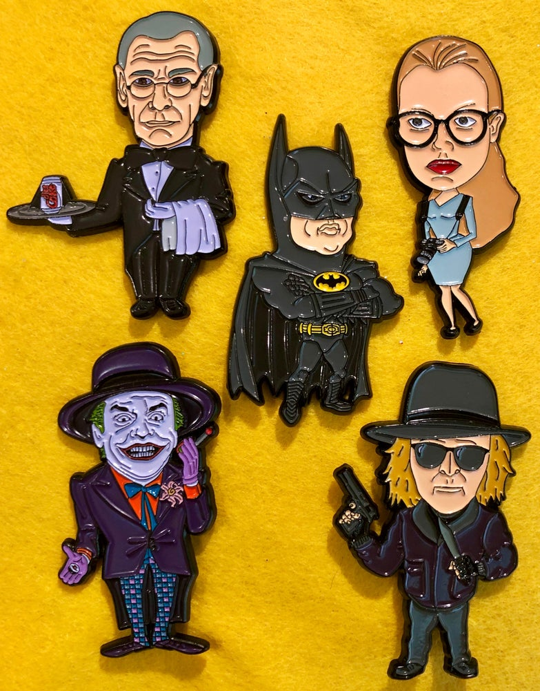 Image of Batman '89 30th Anniversary Pin Set-Limited