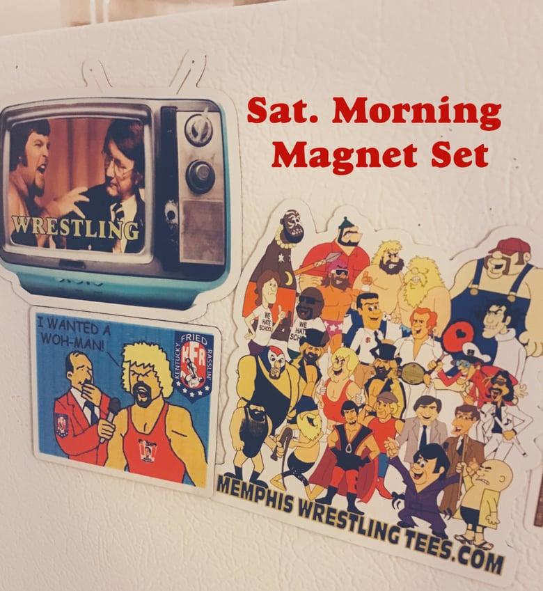 Image of Saturday Morning Magnet Set of Three (Free Shipping)