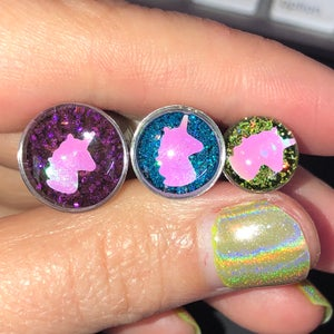 "Image of Unicorn Glitter Plugs (sizes 0g-2"")"