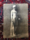 Antique drawing of an Apollo signed and dated