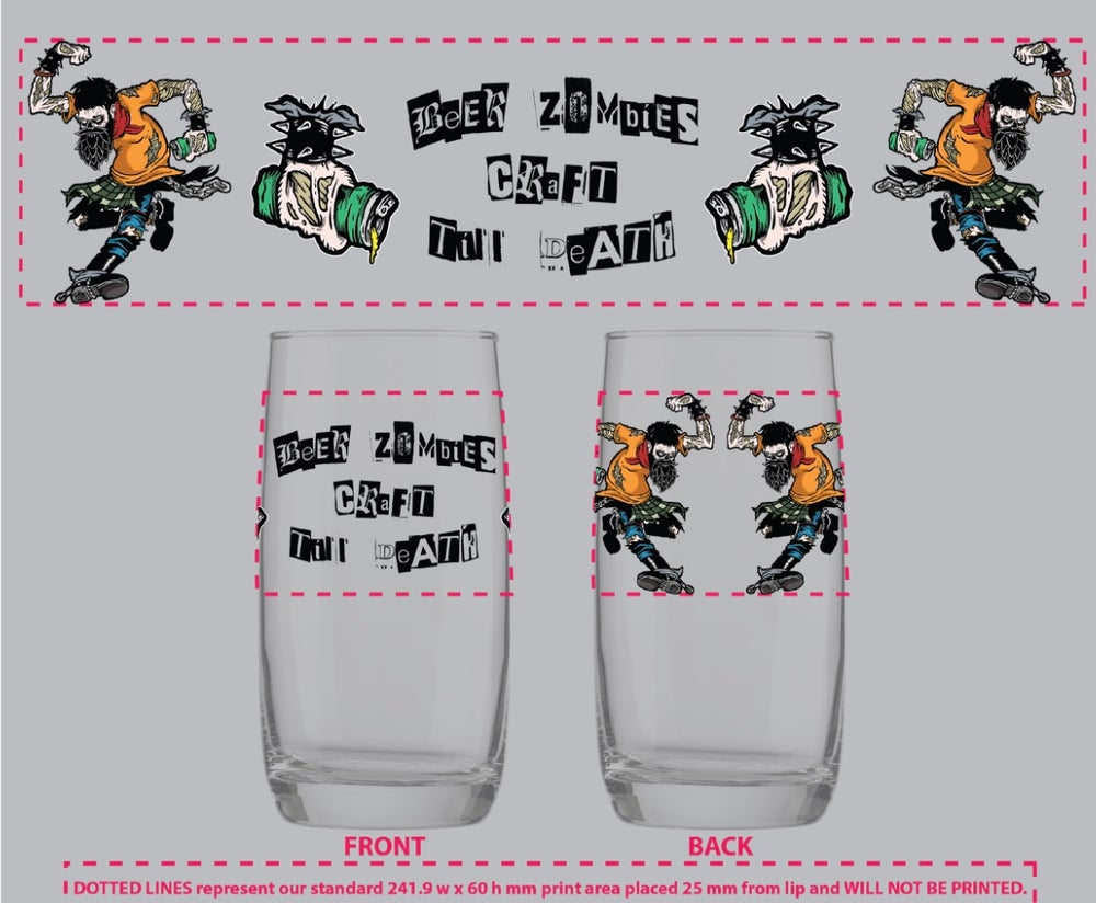 Image of Beer Zombies - Beer Jerks - Nordic Glass