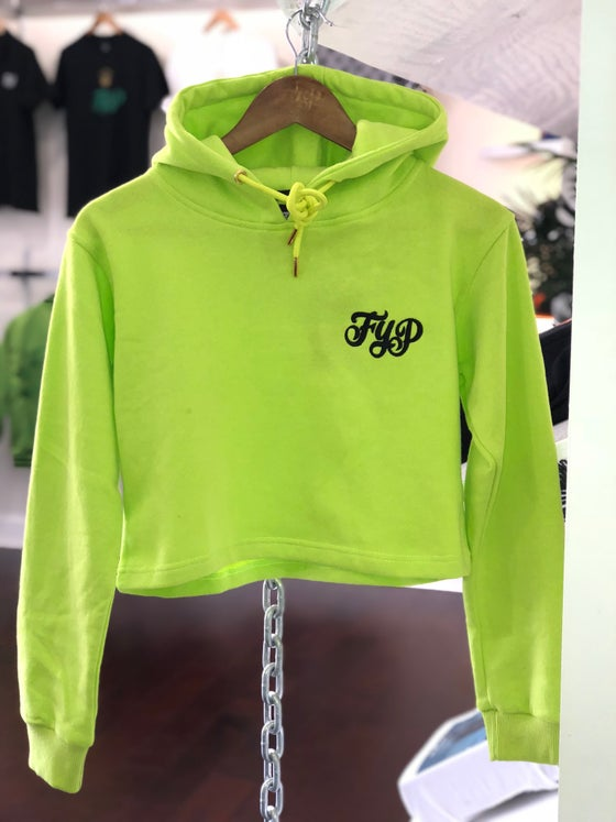 Image of Womans Neon Crop Hoody