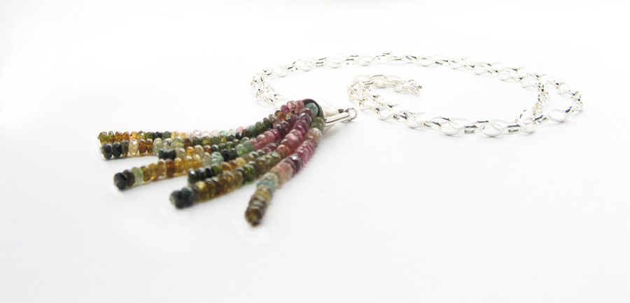 Image of Watermelon Tourmaline Necklace