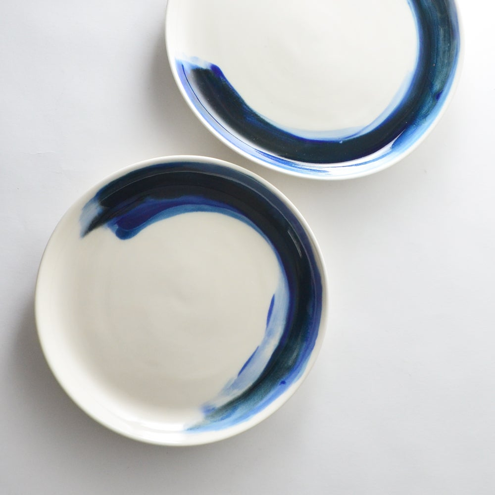 Image of Indigo serving plate