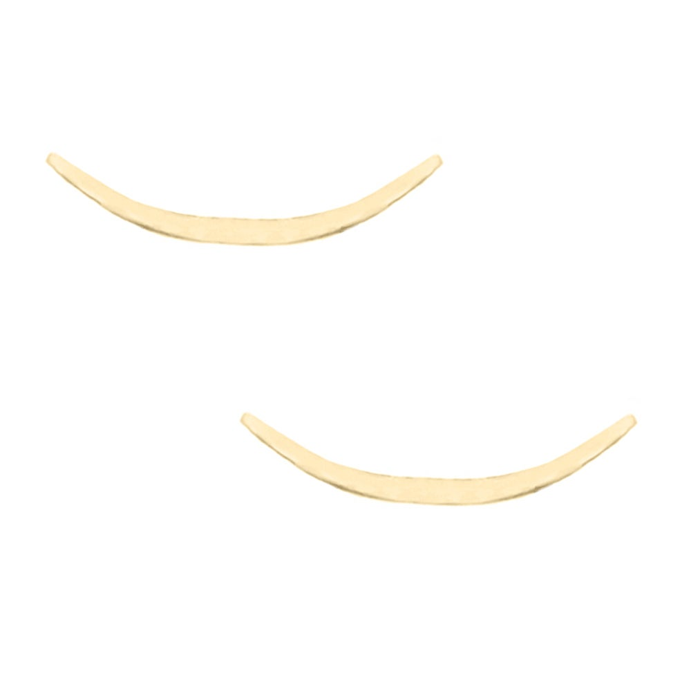 Image of Crescent Moon Ear Climbers - Gold