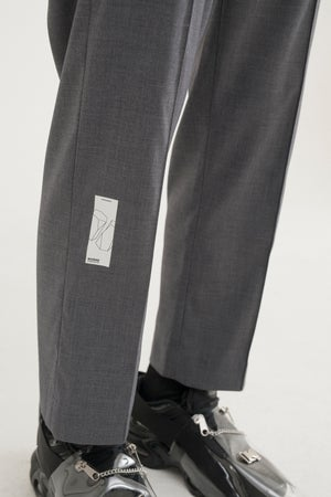 Image of IMPLY - Classic Cropped Trousers (Grey)