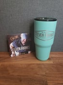 Image of 30oz Tumbler (Seafoam Green) & Signed CD Package