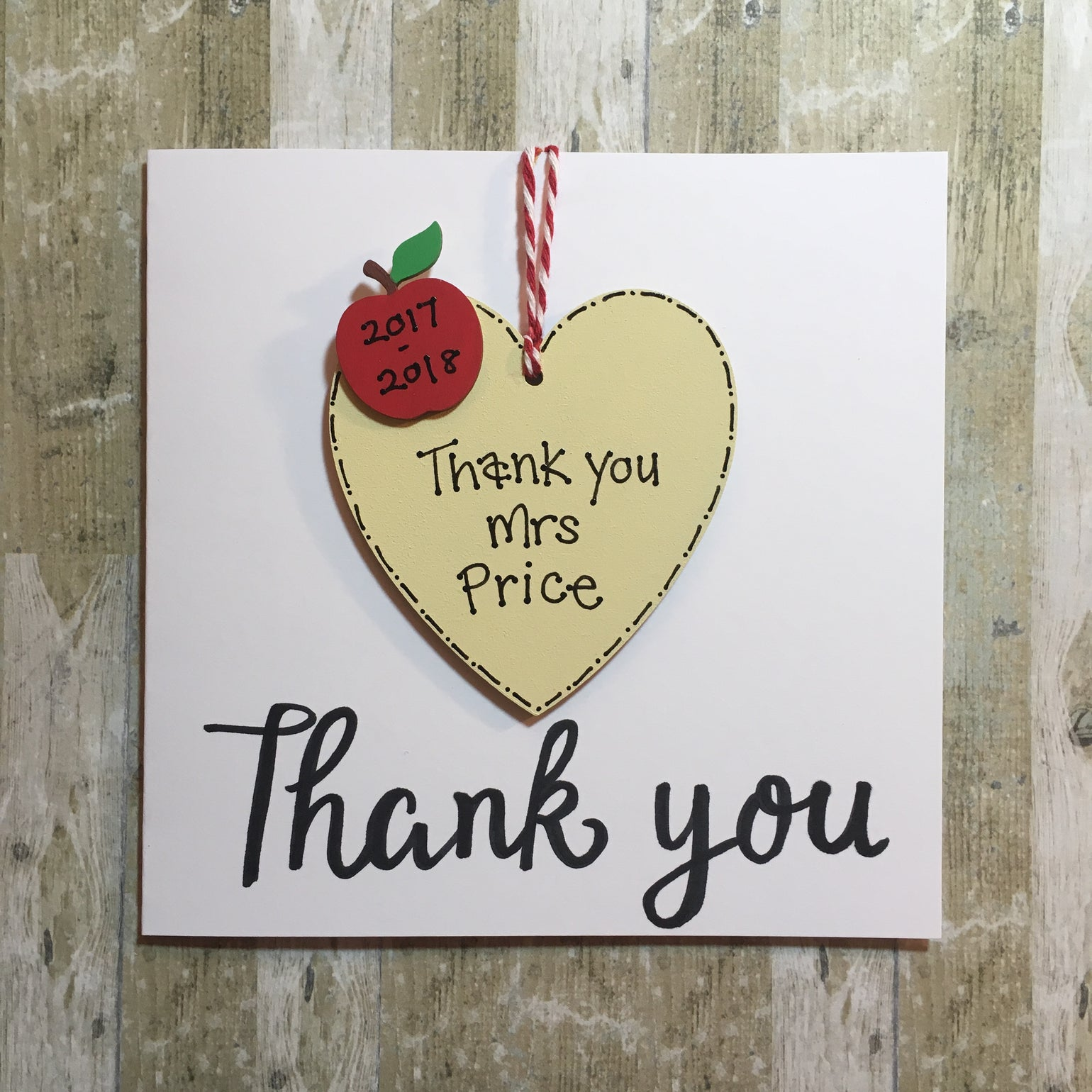 Image of Thank you card (heart)
