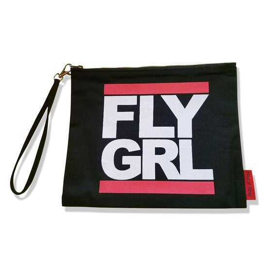 Image of FLY GRL Canvas Wristlet