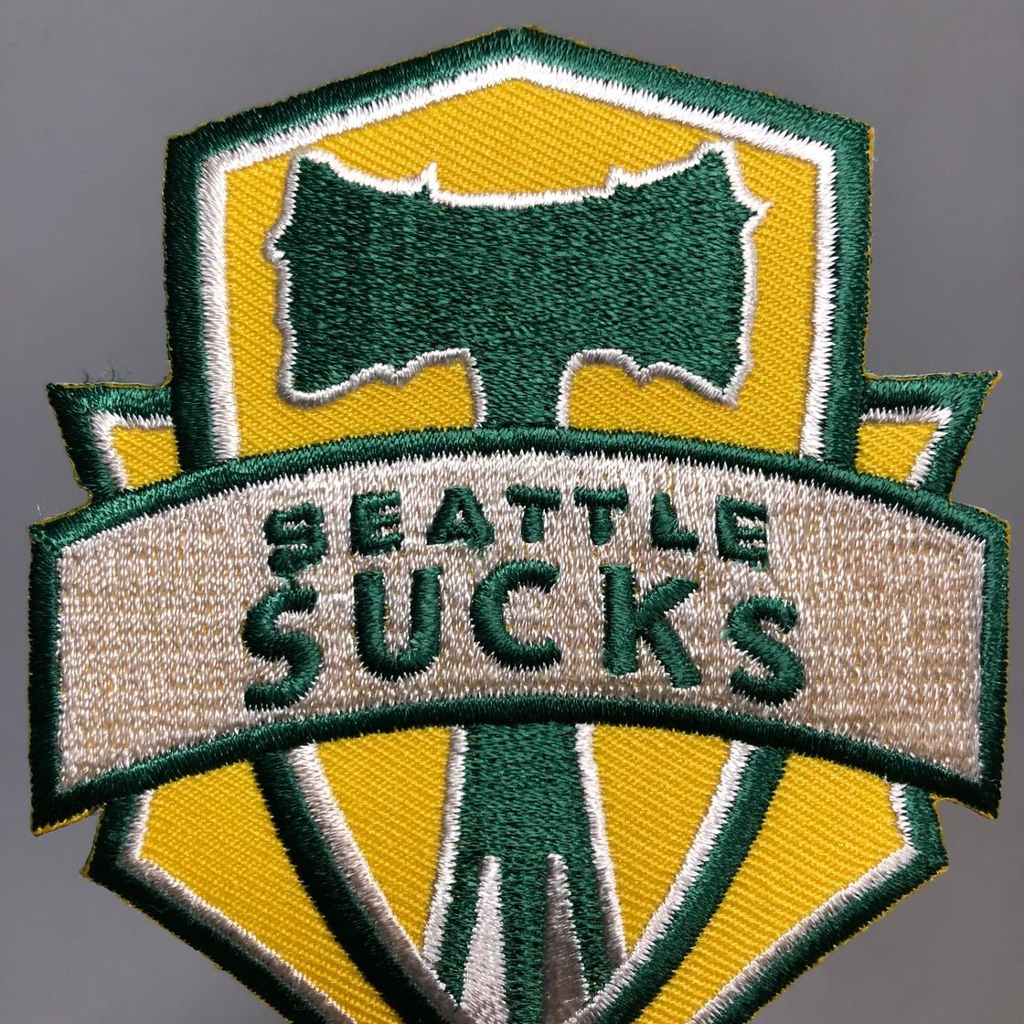 Image of Seattle Sucks Thorny Axe Patch