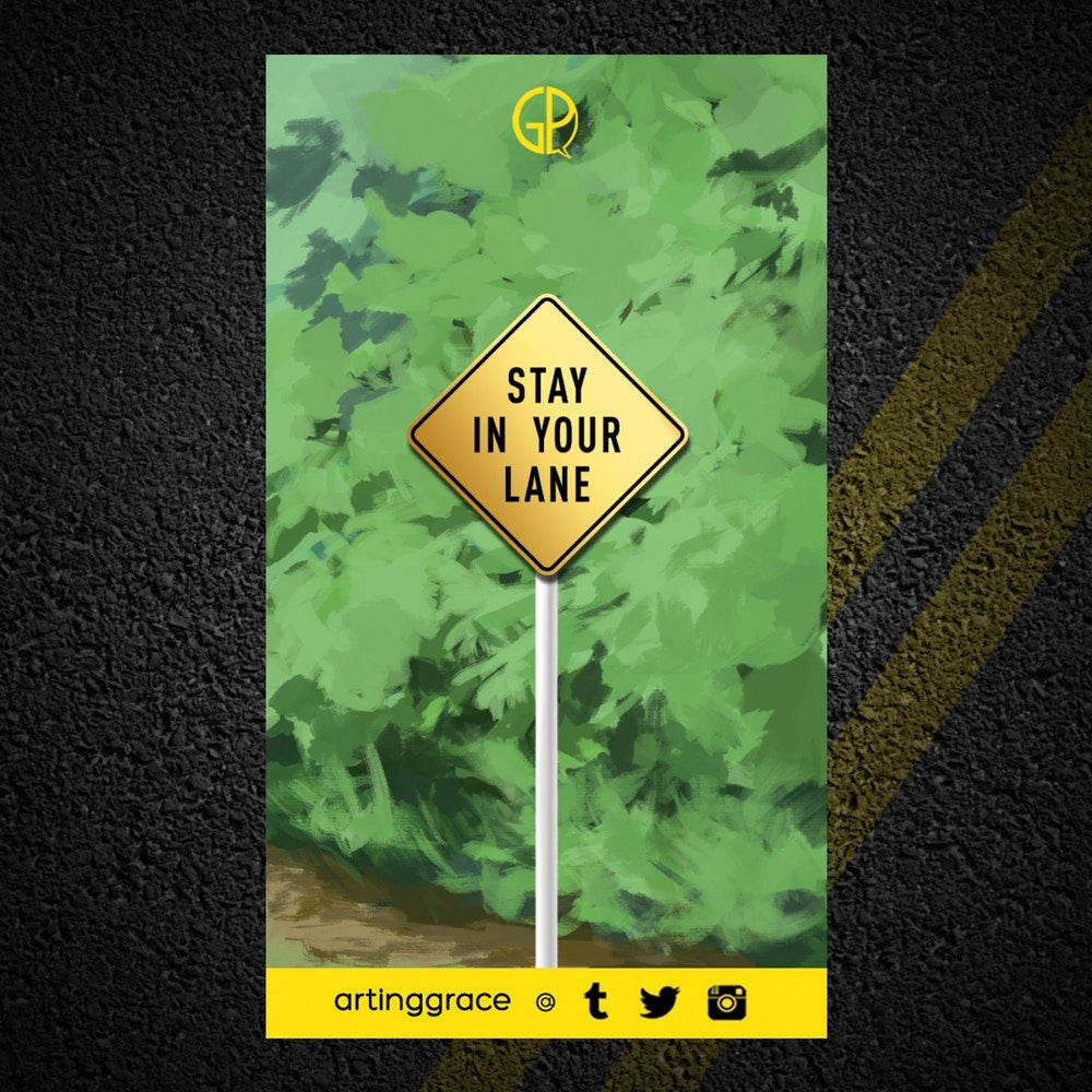 Image of [Enamel Pin] Stay In Your Lane