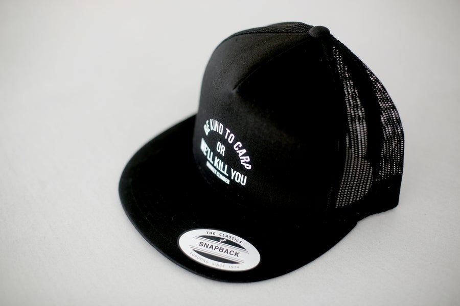 Image of Monkey Climber Kill You Mesh Snapback I Black