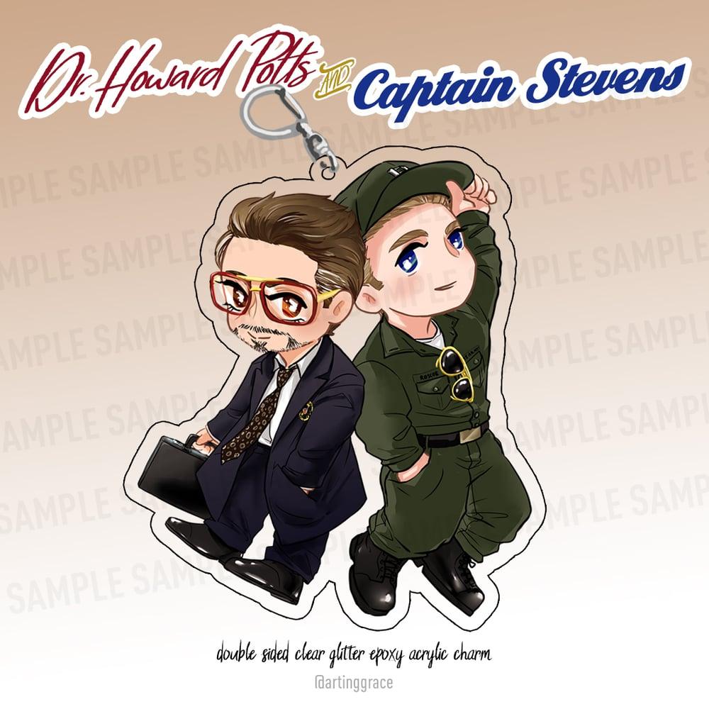 Image of [Charm] Howard Potts & Captain Stevens