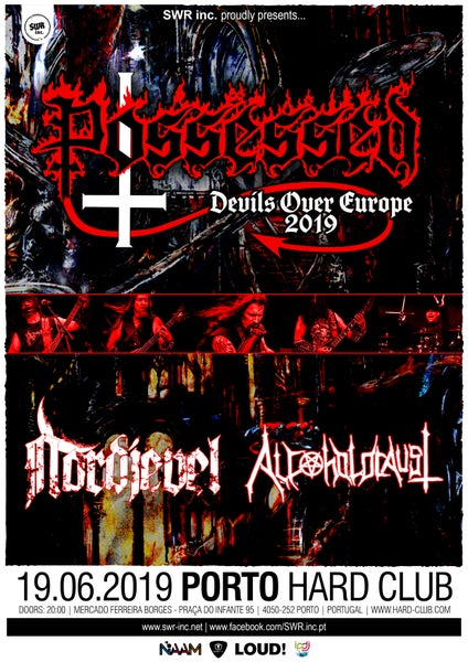 Image of  19.06.2019 - POSSESSED + NORDJEVEL + ALCOHOLOCAUST