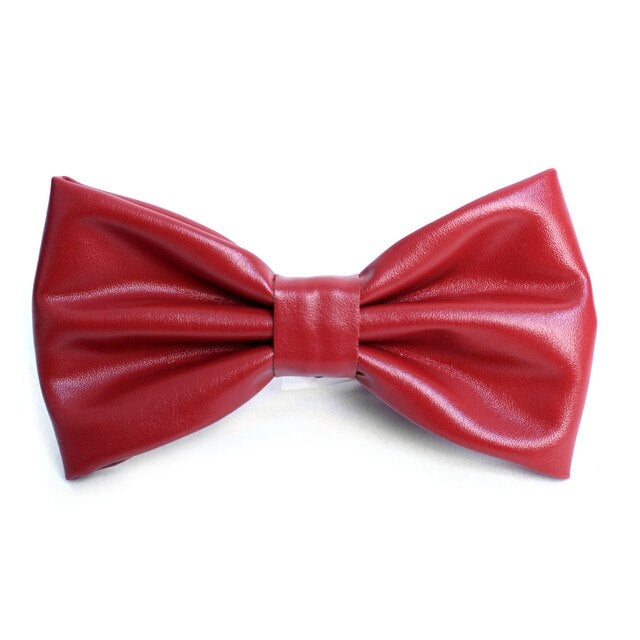 Image of Leather Bow ties