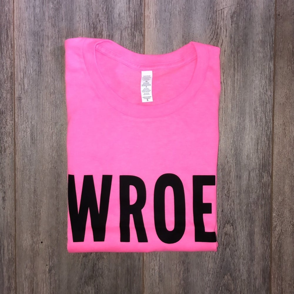 Image of NEON PINK BOLD TEE