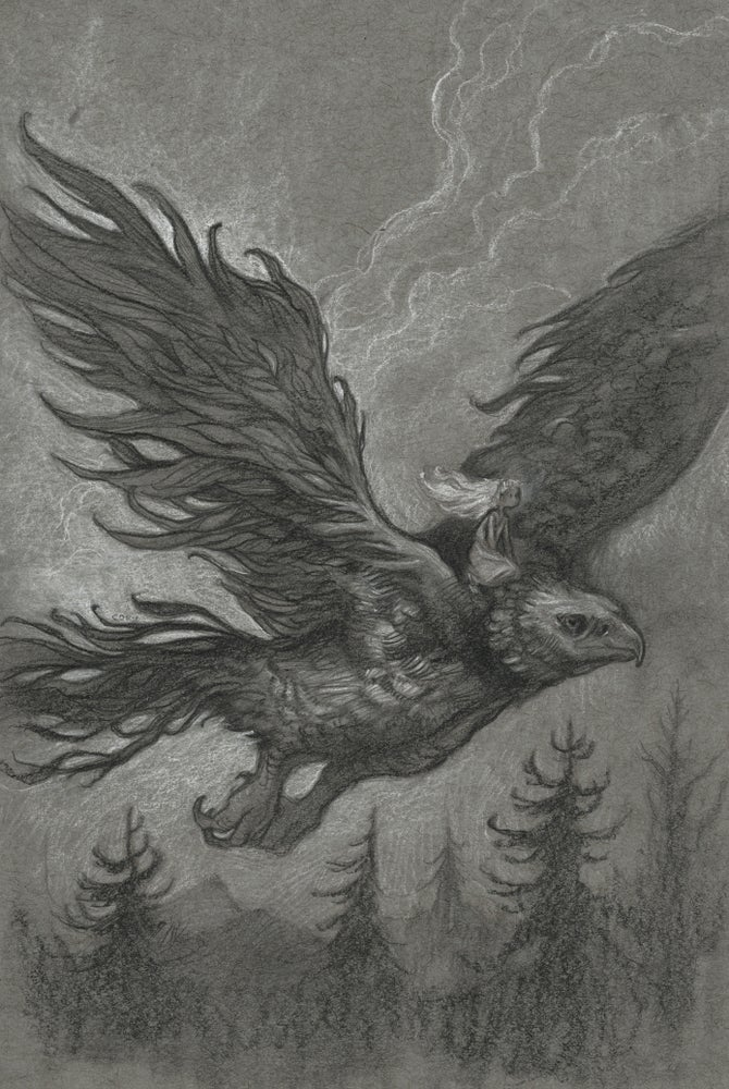 Image of HEROESCON 2019 COMMISSION - TONED PAPER DRAWING