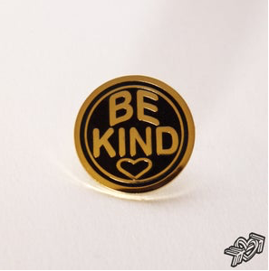 Image of BE KIND Pinbadge by Lord Montana-Blue