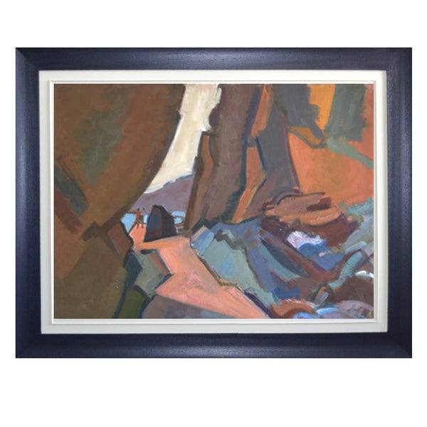 Image of 20thC French Oil Painting, 'Rock Pooling'