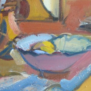 Image of French Still life Painting, 'Blue Jug.'