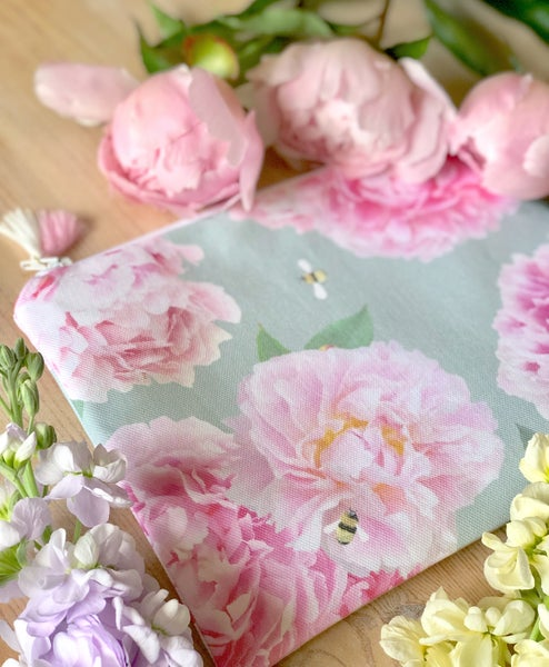 Image of Pink Peonies Pouch