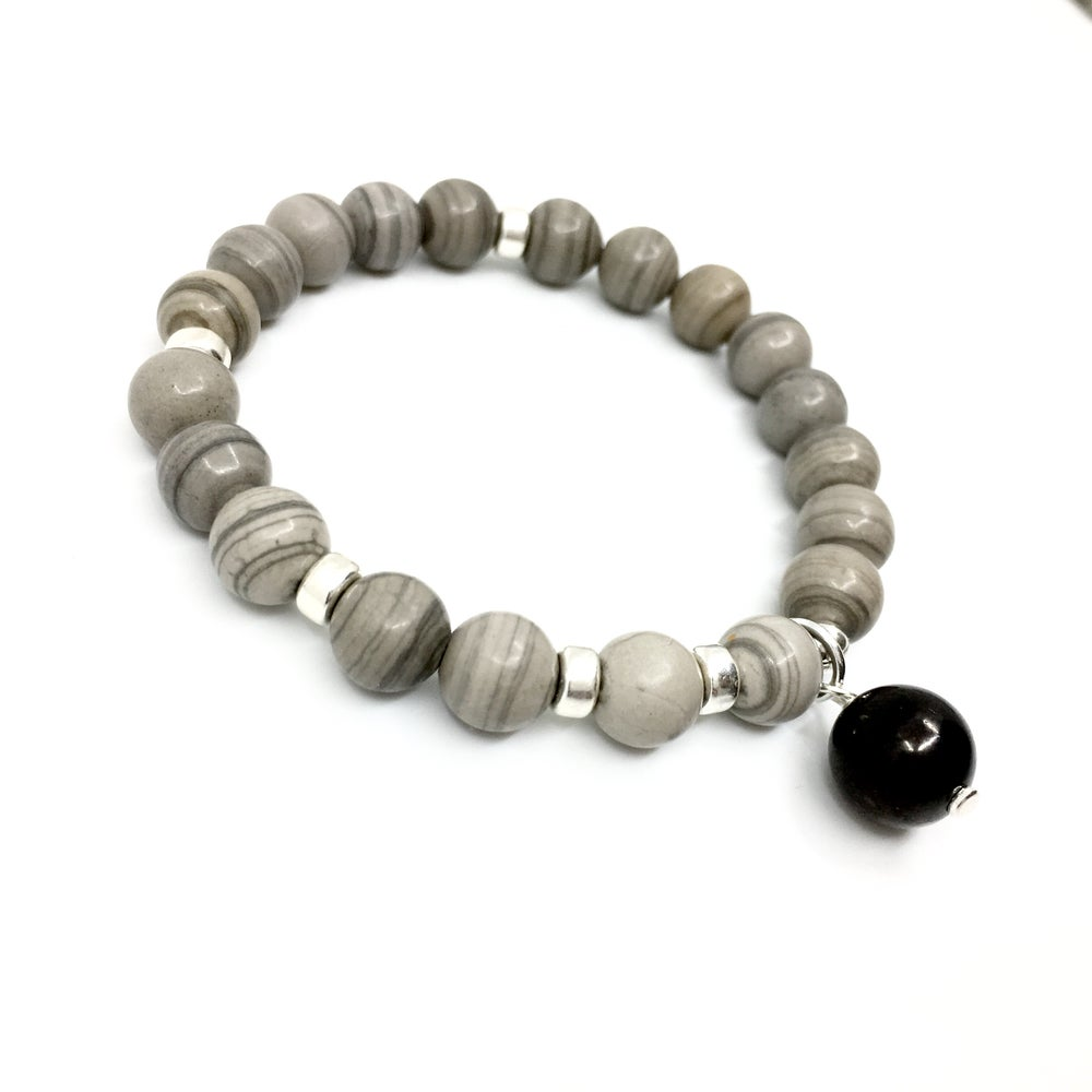 Image of New! Serpeggiante (Wood Jasper) Wrist Mala