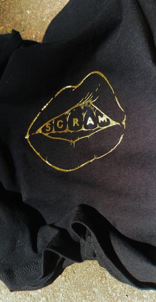 Image of SCRAM TEE black/gold