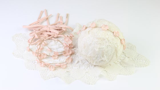 Image of Little Blush Blooms Halo/Jersey Tieback