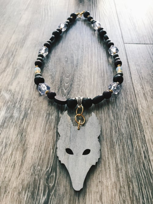 Image of Wolf Eye Amulet - Grey Wolf
