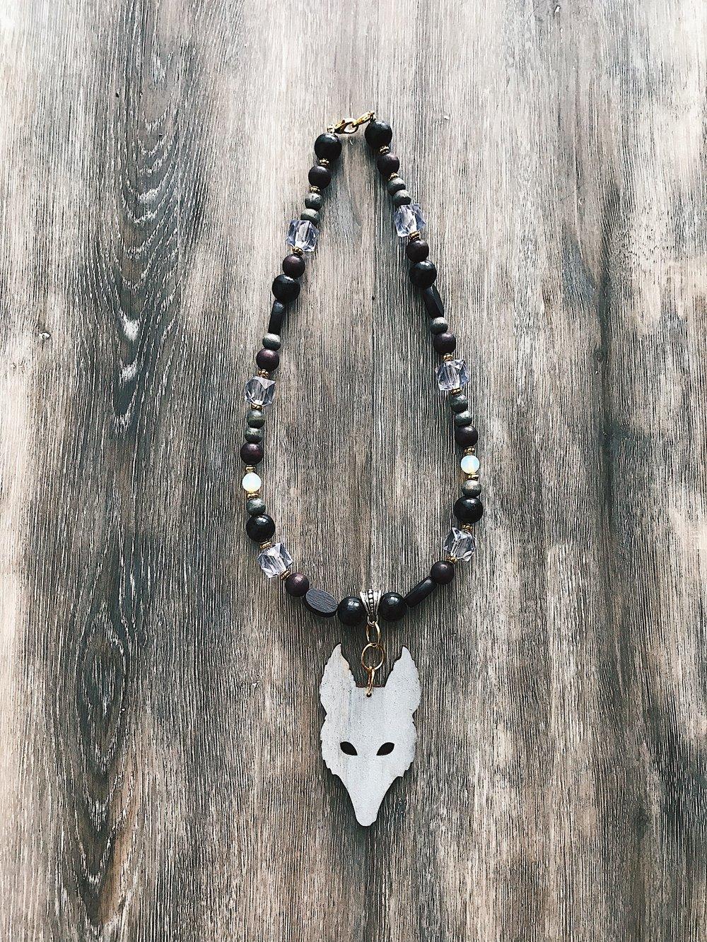 Image of Wolf Eye Amulet - Grey Wolf