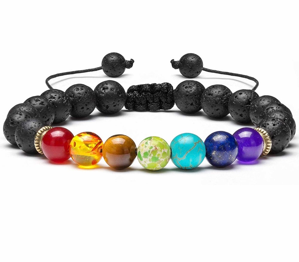 Image of Chakra Bracelet with Infusable Lava Beads