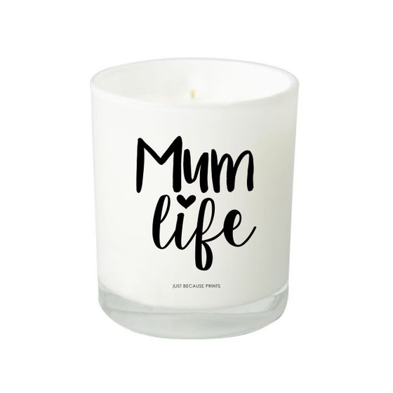 Image of Quote Candle - Mum Life