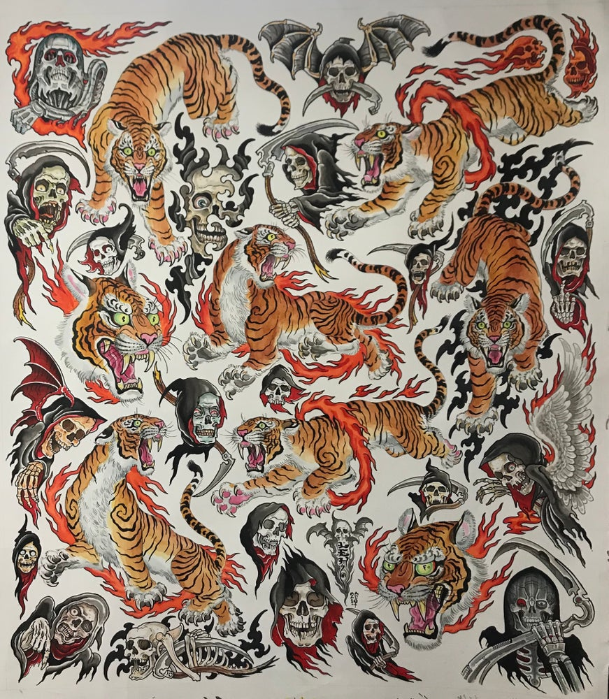 "Image of Tim Lehi ""Tiger Reaper Giant Flash Sheet"" Signed Poster"