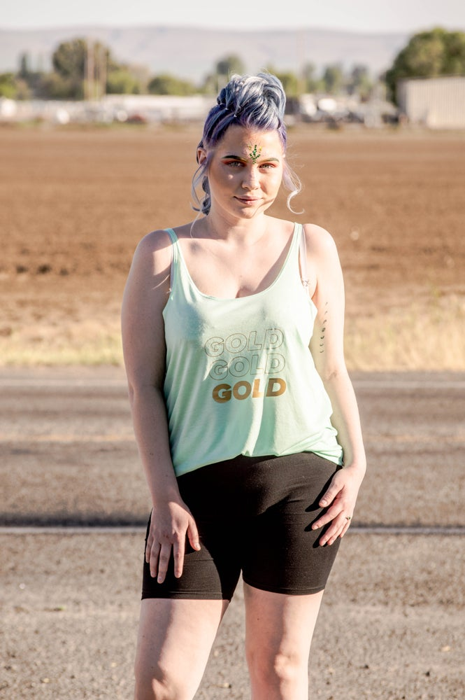 Image of Tripple Gold Slouchy Tank