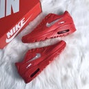 Image of Swarovski Nike Air Max 90 Casual Shoes Red customized with SWAROVSKI® Xirius Rose-Cut Crystals.