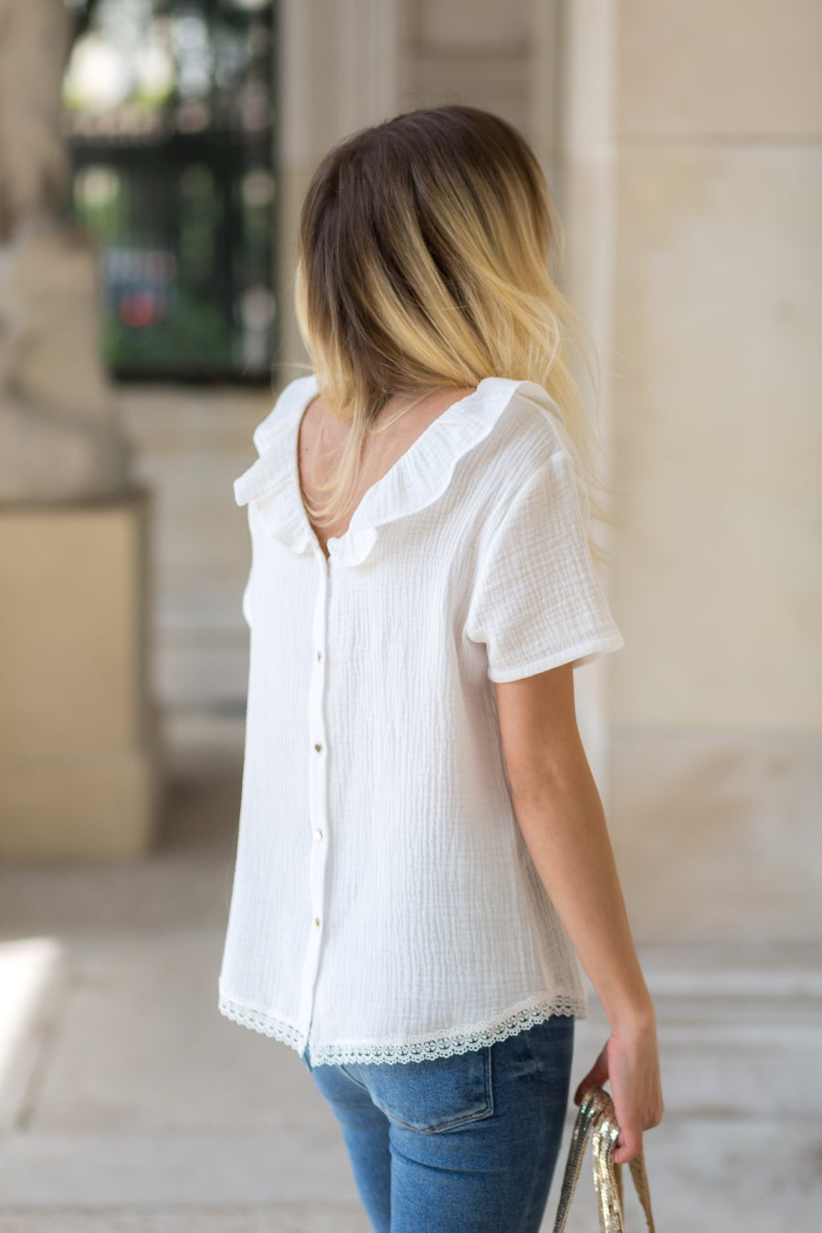 Image of BLOUSE LISA - BLANC