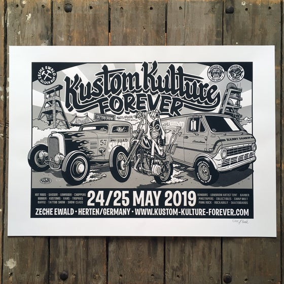 Image of KUSTOM KULTURE FOREVER 2019 SCREEN PRINTED POSTER