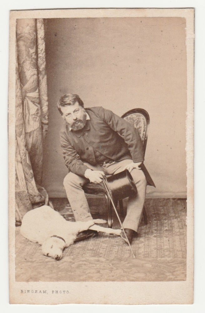 Image of Bingham: Ernest Meissonier and his dog, ca. 1865