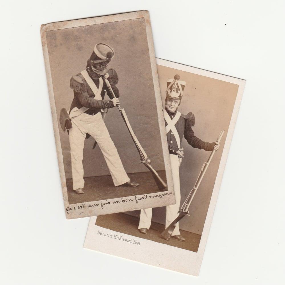 Image of Baron & Mitkiewicz: CdV, 'ça c'est une fois un bon fusil savez vous!', ca. 1860