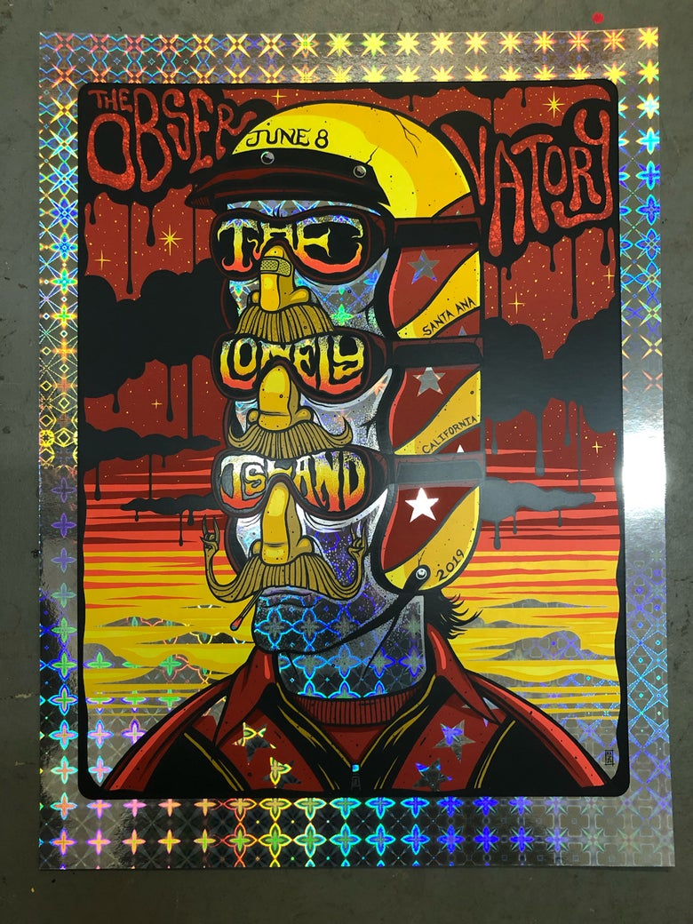 Image of The Lonely Island - The Observatory - June 8th, 2019 - Cosmic Window Foil Edition