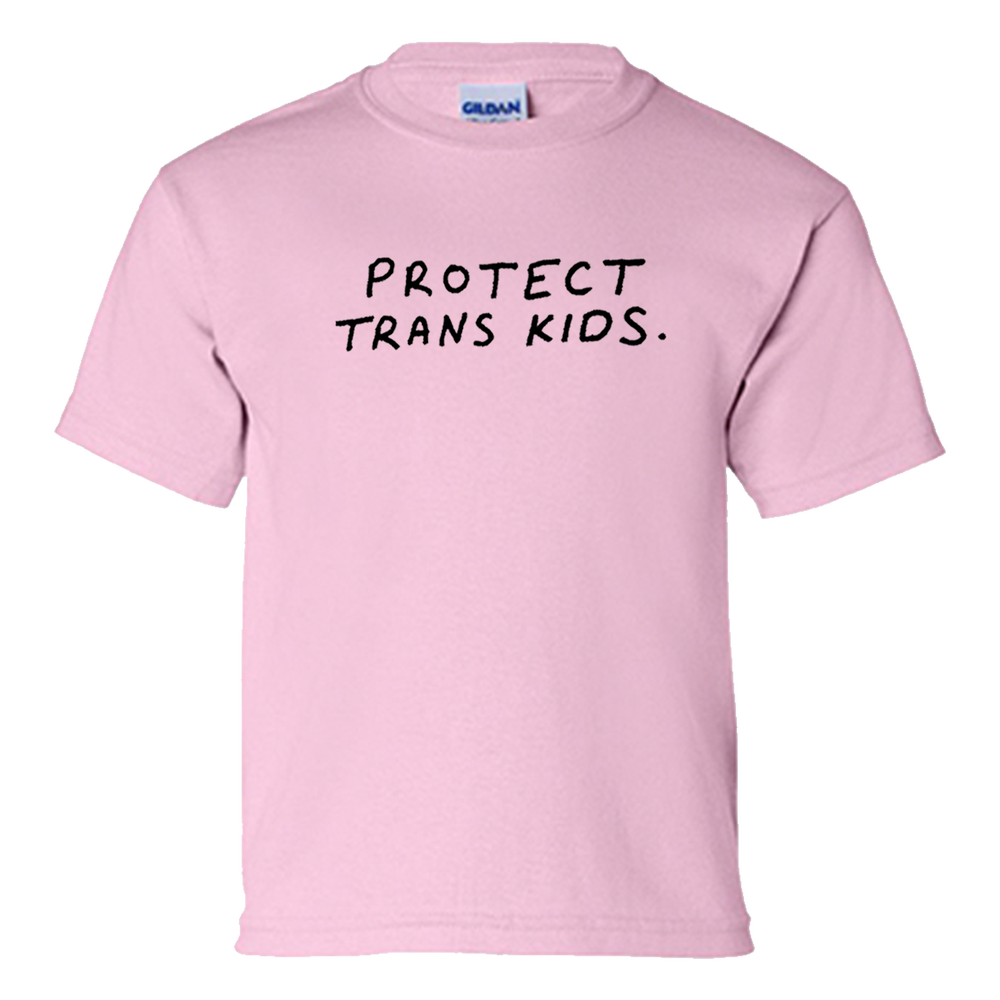 Image of PROTECT TRANS KIDS TEE PINK