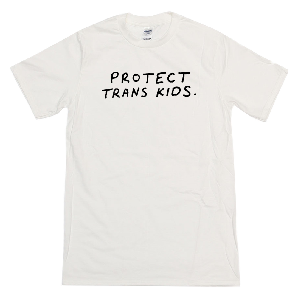 Image of PROTECT TRANS KIDS TEE WHITE