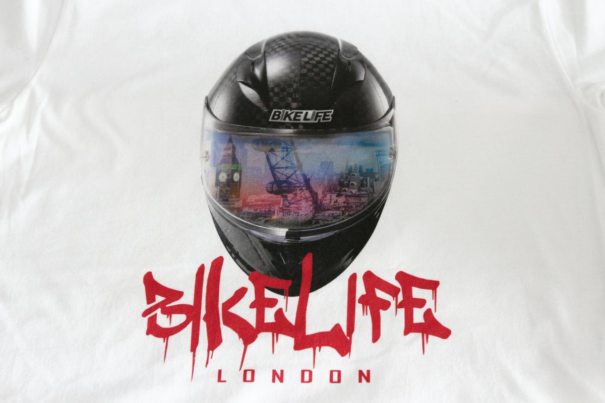 Image of Bikelife London 3D Helmet Effect T-Shirt