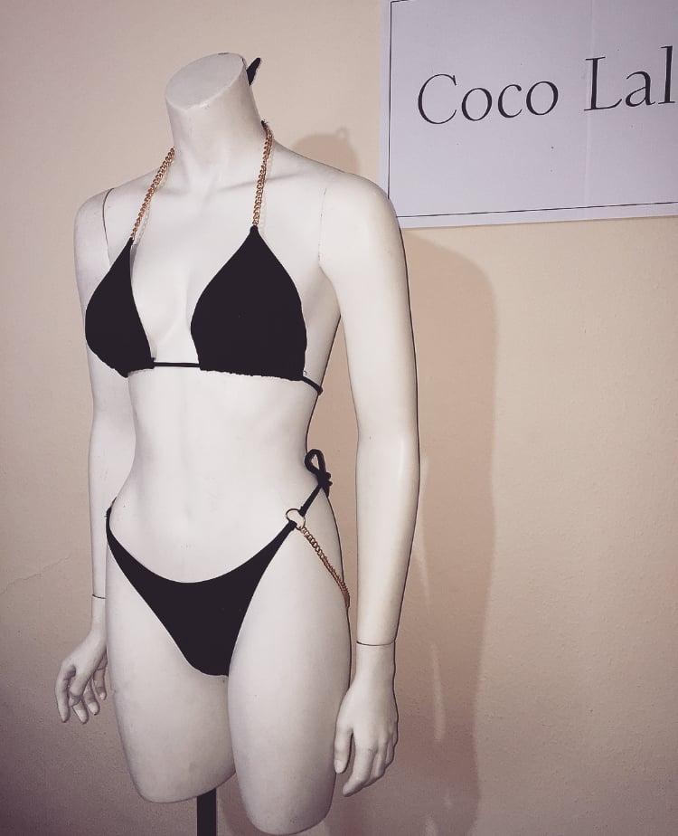 Image of Roxy Black Chain Bikini
