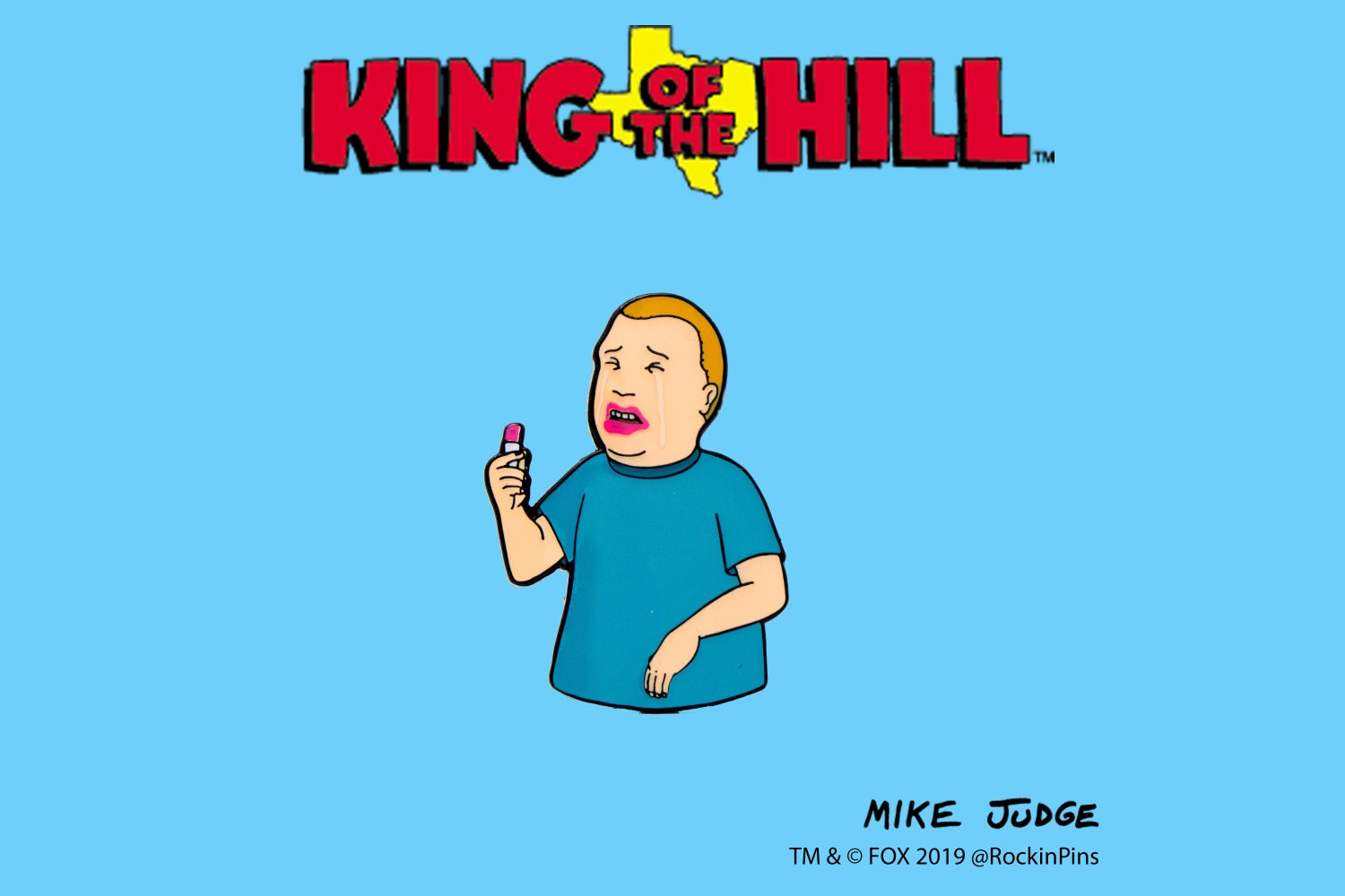 Image of King of the Hill - Bobby Hill Lipstick Enamel Pin