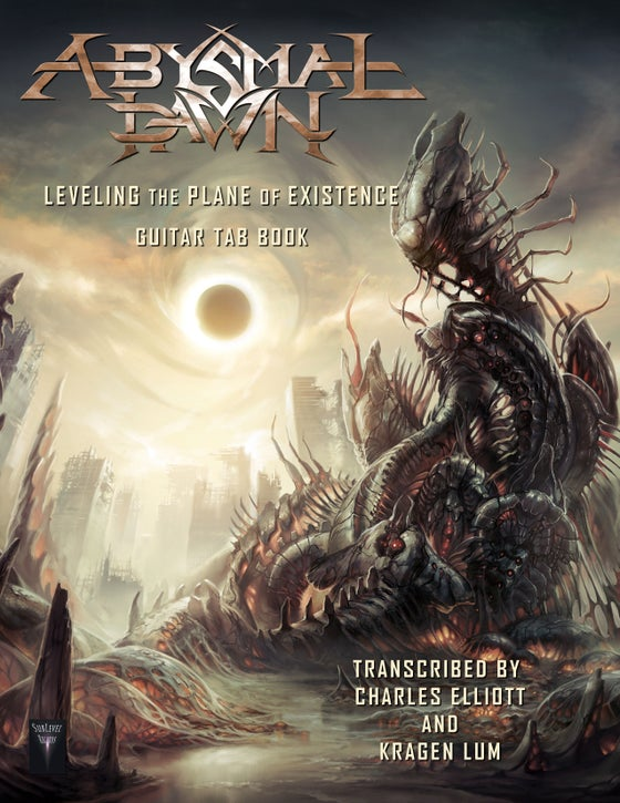 Image of Abysmal Dawn - Leveling The Plane Of Existence Guitar TAB Book (Print Edition + Digital Copy)