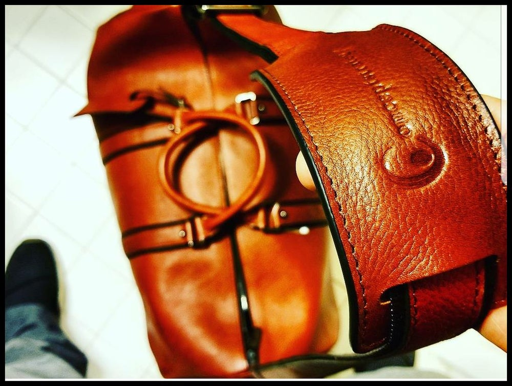 Image of The Executive Cognac ❼™ - Men's Italian Leather Duffle
