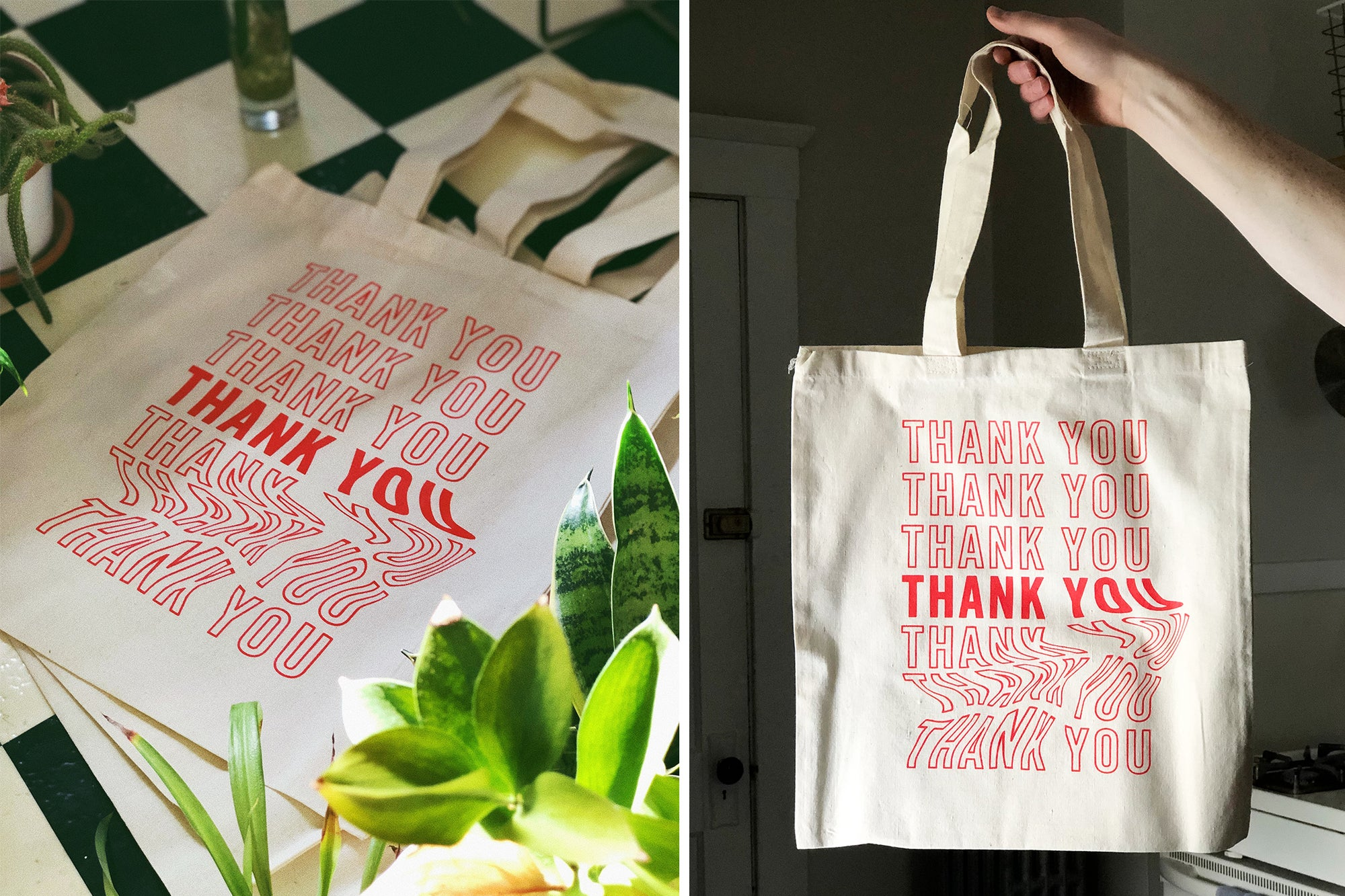 Image of Thank You Tote Bags