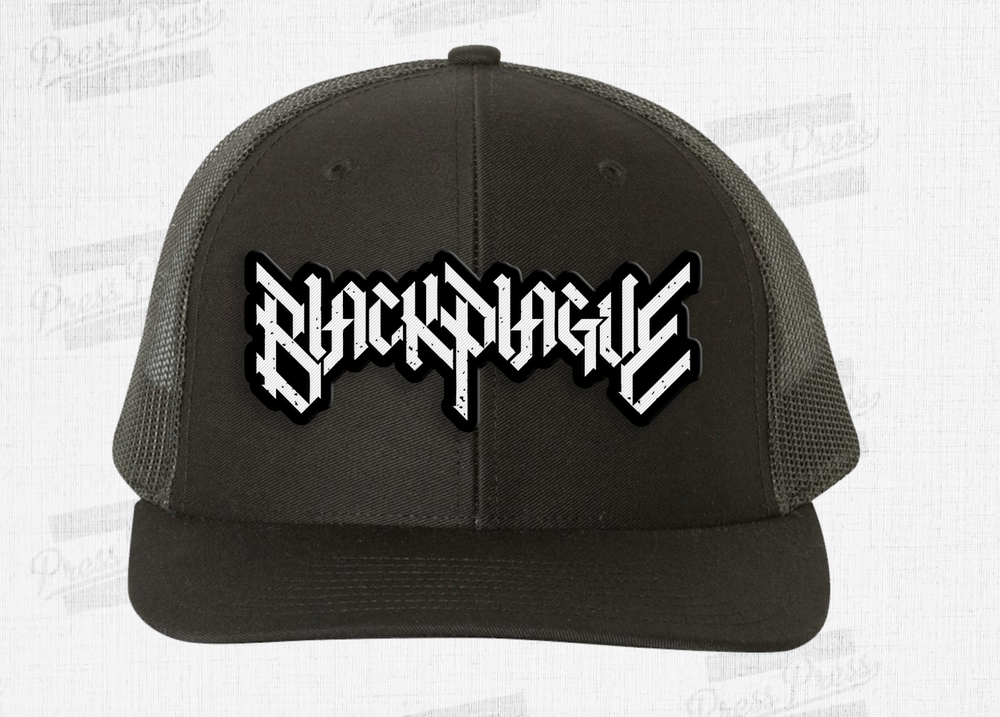 Image of Trucker Style Black Plague Hat