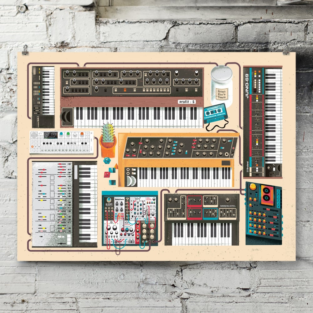Image of Synth Dungeon art print